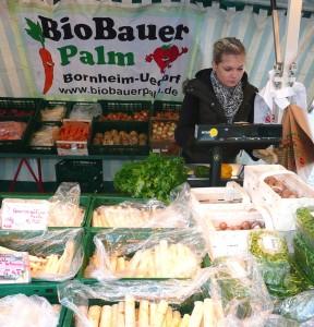 Marktstand BioBauer Palm